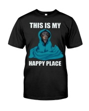 This is my happy place dachshund tshirt Classic T-Shirt front
