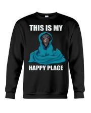 This is my happy place dachshund tshirt Crewneck Sweatshirt thumbnail