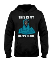 This is my happy place dachshund tshirt Hooded Sweatshirt thumbnail