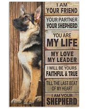German Shepherd I Am Your Friend Your Partner Poster Living Room Wall Decor 11x17 Poster front