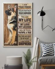 German Shepherd I Am Your Friend Your Partner Poster Living Room Wall Decor 11x17 Poster lifestyle-poster-1