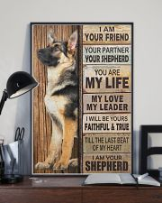 German Shepherd I Am Your Friend Your Partner Poster Living Room Wall Decor 11x17 Poster lifestyle-poster-2