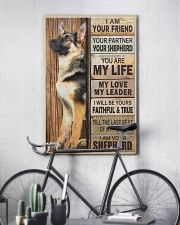 German Shepherd I Am Your Friend Your Partner Poster Living Room Wall Decor 11x17 Poster lifestyle-poster-7