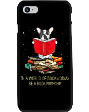 In A Worl D Of Bookworms Be A Book Frenchie Phone Case thumbnail