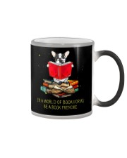 In A Worl D Of Bookworms Be A Book Frenchie Color Changing Mug thumbnail