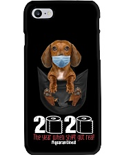The year When Sh t Got Real Quarantined Dachshund Phone Case thumbnail