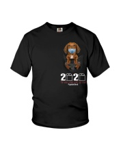 The year When Sh t Got Real Quarantined Dachshund Youth T-Shirt thumbnail