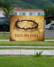 Crown Of Thorns Paid In Full Yard Sign Christian Sign Outdoor Garden Decor 24x18 Yard Sign aos-yard-sign-24x18-lifestyle-front-12