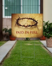 Crown Of Thorns Paid In Full Yard Sign Christian Sign Outdoor Garden Decor 24x18 Yard Sign aos-yard-sign-24x18-lifestyle-front-14