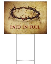 Crown Of Thorns Paid In Full Yard Sign Christian Sign Outdoor Garden Decor 24x18 Yard Sign front