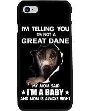 I'm telling you i'm not a great dane Phone Case thumbnail