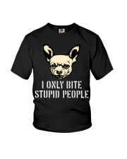 I Only Bite Stupid People Chihuahua2 Youth T-Shirt thumbnail
