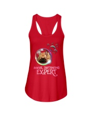 Social Distancing Expert frenchie 2 Ladies Flowy Tank thumbnail