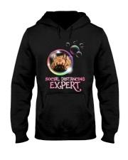 Social Distancing Expert frenchie 2 Hooded Sweatshirt thumbnail
