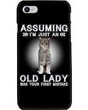 Cats Cute T-shirt Assuming I'm just an old lady Phone Case thumbnail