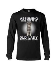Cats Cute T-shirt Assuming I'm just an old lady Long Sleeve Tee thumbnail
