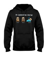 My Quarantine Routine  pug3 Hooded Sweatshirt thumbnail