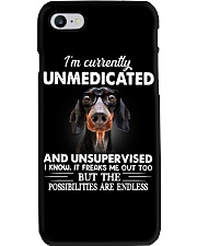 im currently unsupervised dachshund Phone Case thumbnail