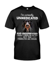 im currently unsupervised dachshund Classic T-Shirt front
