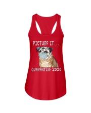 Picture It Quarantine 2020 pug Ladies Flowy Tank thumbnail