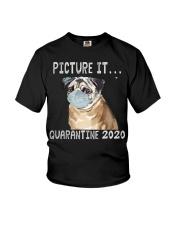 Picture It Quarantine 2020 pug Youth T-Shirt thumbnail