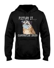 Picture It Quarantine 2020 pug Hooded Sweatshirt thumbnail