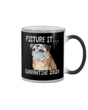 Picture It Quarantine 2020 pug Color Changing Mug thumbnail