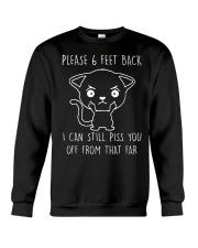Please 6 Feet Back I Can Still Pis You Off cat Crewneck Sweatshirt thumbnail