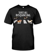 Beagle Social Distancing Classic T-Shirt front