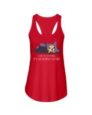I Like To Stay Insde It'S Too Peopley chihuahua 1 Ladies Flowy Tank thumbnail