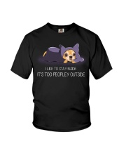 I Like To Stay Insde It'S Too Peopley chihuahua 1 Youth T-Shirt thumbnail