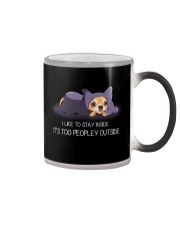 I Like To Stay Insde It'S Too Peopley chihuahua 1 Color Changing Mug thumbnail