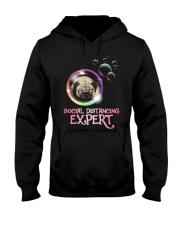 Social Distancing Expert pug 2 Hooded Sweatshirt thumbnail