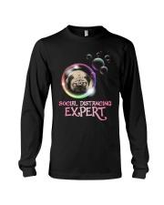 Social Distancing Expert pug 2 Long Sleeve Tee thumbnail