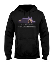 I Like To Stay Inside It'S Too Peopley german 1 Hooded Sweatshirt thumbnail