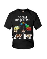 Bulldog Social Distancing Youth T-Shirt thumbnail
