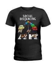 Bulldog Social Distancing Ladies T-Shirt thumbnail