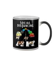 Bulldog Social Distancing Color Changing Mug thumbnail