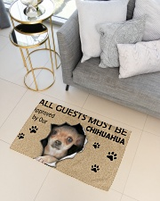 All Guests Must Be Chihuahua Approved By Our Woven Rug - 3' x 2' aos-woven-rugs-3x2-lifestyle-front-01