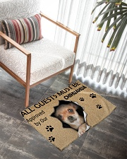 All Guests Must Be Chihuahua Approved By Our Woven Rug - 3' x 2' aos-woven-rugs-3x2-lifestyle-front-05