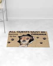 All Guests Must Be Chihuahua Approved By Our Woven Rug - 3' x 2' aos-woven-rugs-3x2-lifestyle-front-06