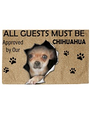 All Guests Must Be Chihuahua Approved By Our Woven Rug - 3' x 2' front