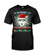 Husky On The Naughty List And I Regret Nothing Shirt Christmas Gifts For Men Classic T-Shirt front