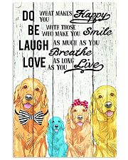 Do Be Laugh Love Golden Retriever 11x17 Poster front