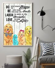 Do Be Laugh Love Golden Retriever 11x17 Poster lifestyle-poster-1