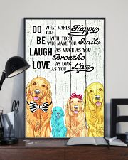 Do Be Laugh Love Golden Retriever 11x17 Poster lifestyle-poster-2