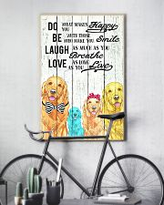 Do Be Laugh Love Golden Retriever 11x17 Poster lifestyle-poster-7