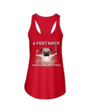 6 feet back you shall not pass Ladies Flowy Tank thumbnail