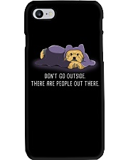 Don'T Go Outside There Are People Out There yorkie Phone Case thumbnail