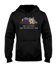 Don'T Go Outside There Are People Out There yorkie Hooded Sweatshirt thumbnail